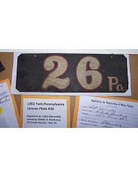old Pennsylvania metal license plates 11