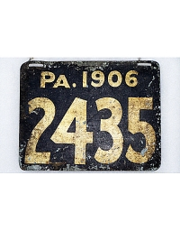 old Pennsylvania metal license plates 1