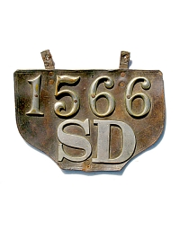 old South Dakota leather license plate 1