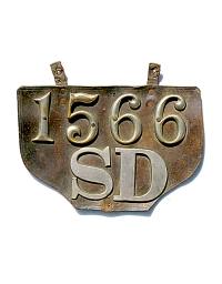old South Dakota leather license plate 1