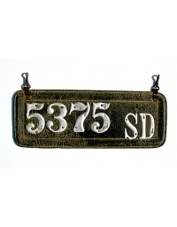 old South Dakota leather license plate 4