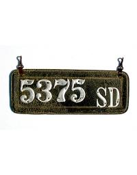old South Dakota leather license plate 4