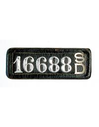 old South Dakota leather license plate 9
