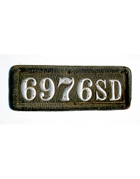 old South Dakota leather license plate 5