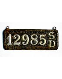 old South Dakota leather license plate 8