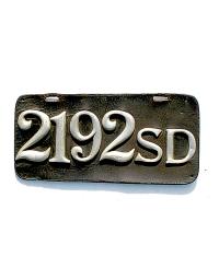 old South Dakota leather license plate 3