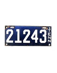 old Tennessee metal license plates 3