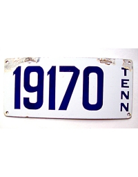 old Tennessee metal license plates 2