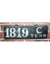 old Tennessee leather license plate