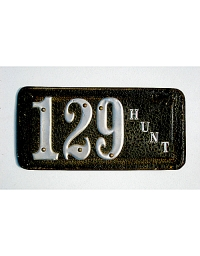 old Texas leather license plate 9