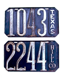 old Texas metal license plates 3
