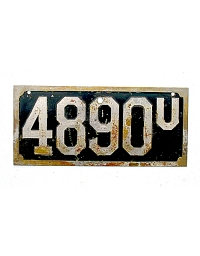 old Utah metal license plates 2