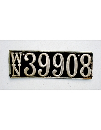 old Washington wooden license plate 2