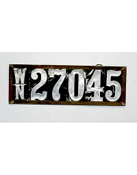 old Washington wooden license plate 1