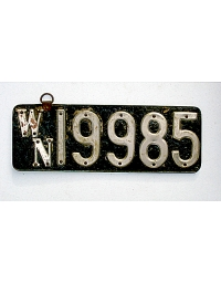 old Washington leather license plate 1
