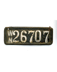 old Washington leather license plate 2